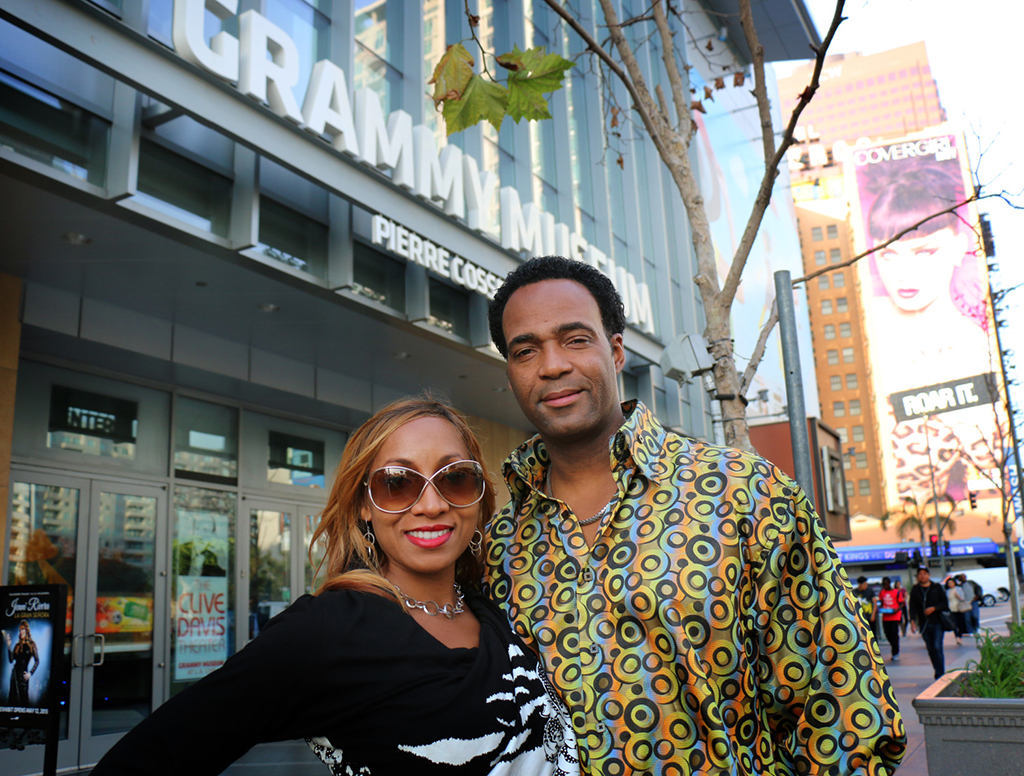 Marcus and Yolanda Glenn at the Grammy Museum.